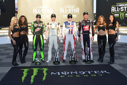 Chase Elliott, Hendrick Motorsports Chevrolet, Daniel Suárez, Joe Gibbs Racing Toyota, Ryan Blaney, Wood Brothers Racing Ford, Clint Bowyer, Stewart-Haas Racing Ford