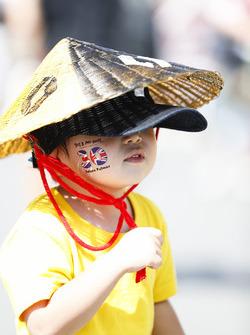 Un jeune fan de Renault Sport F1 Team