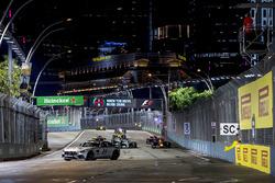 Daniel Ricciardo, Red Bull Racing RB13, Lewis Hamilton, Mercedes AMG F1 W08, Valtteri Bottas, Mercedes AMG F1 W08, Carlos Sainz Jr., Scuderia Toro Rosso STR12 y Nico Hulkenberg, Renault Sport F1 Team RS17