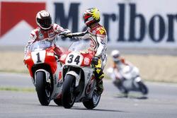 Wayne Rainey, Yamaha, Kevin Schwantz, Suzuki