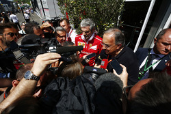 Sergio Marchionne, Chief Executive Officer, Fiat Chrysler and Chairman, Ferrari, Maurizio Arrivabene, Team Principal, Ferrari