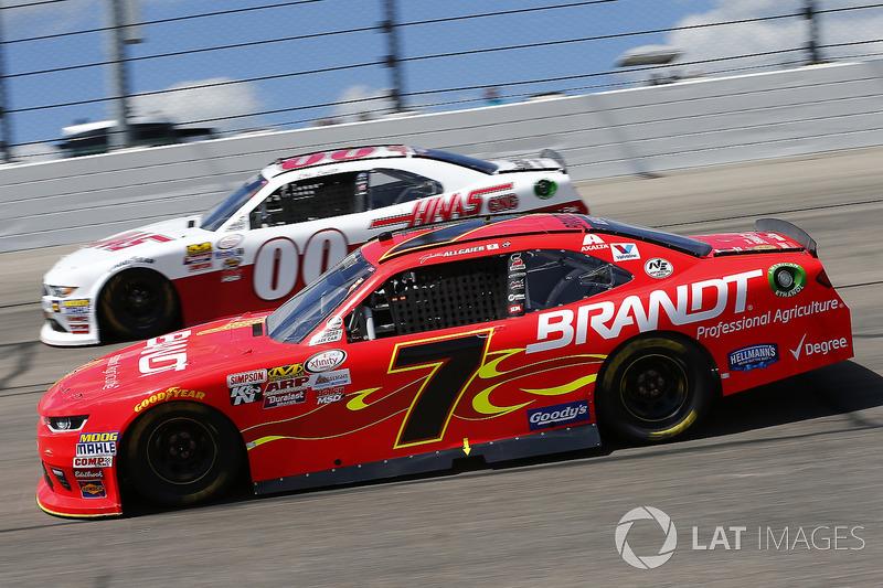 Justin Allgaier, JR Motorsports Chevrolet, Cole Custer, Stewart-Haas Racing Ford