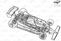 Vue d'ensemble détaillée de la Ferrari 312T5