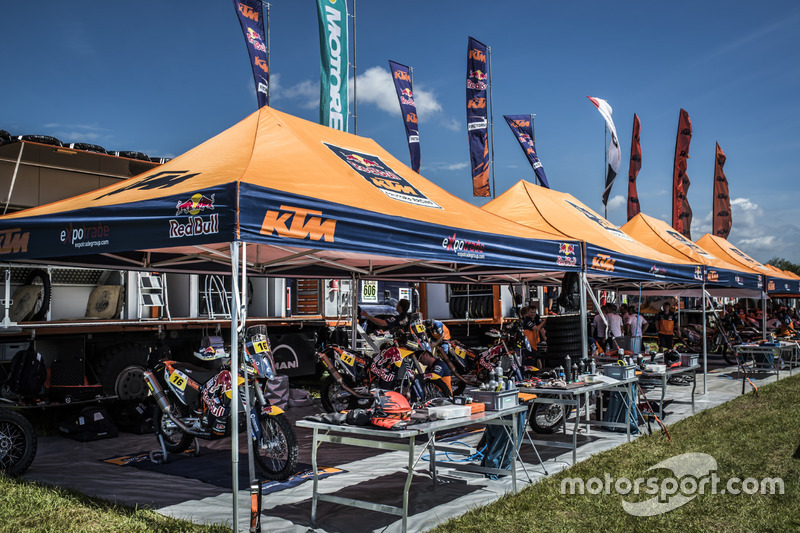 Zona del Team Red Bull KTM Factory Racing