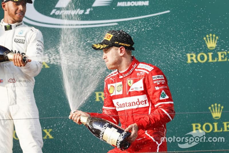 Lewis Hamilton, Mercedes AMG y Sebastian Vettel, Ferrari