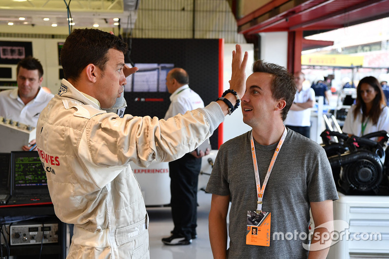 F1 Experiences 2-Seater passengers Will Buxton, NBC TV Presenter and Frankie Muniz, Actor