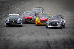 Andreas Bakkerud, EKS Audi Sport, Johan Kristoffersson, PSRX Volkswagen Sweden, Kevin Hansen, Team Peugeot Total, Timmy Hansen, Team Peugeot Total