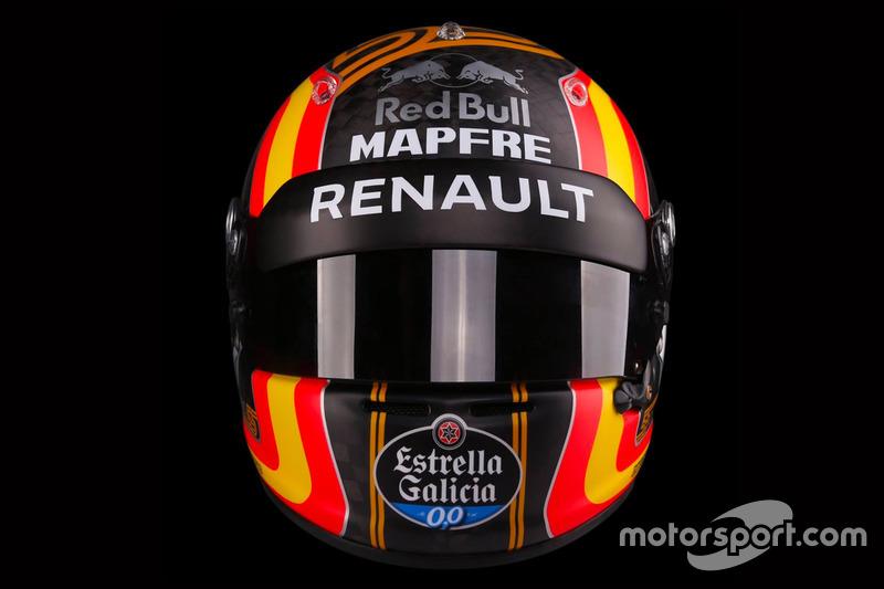 El casco de Carlos Sainz Jr., Renault Sport F1 Team