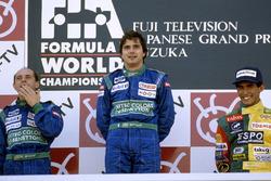 Подиум: победитель Нельсон Пике, Benetton Ford, второе место – Роберто Морено, третье место – Агури Сузуки, Lola Lamborghini