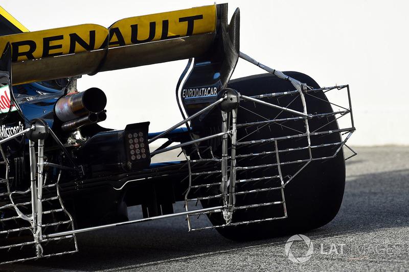 Renault Sport F1 Team RS18 con un sensor aerodinámico