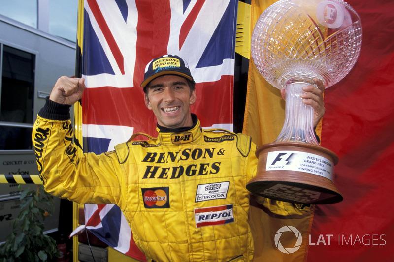Le vainqueur Damon Hill, Jordan
