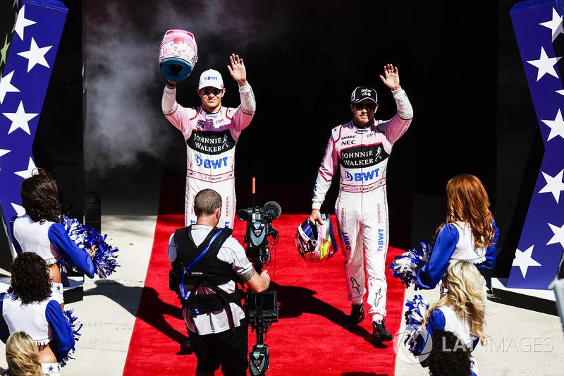 Esteban Ocon, Force India, Sergio Pérez, Force India