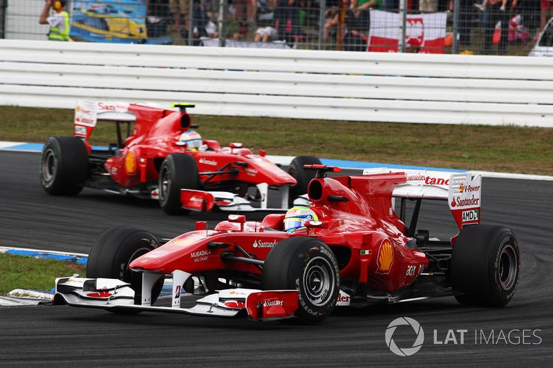На Гран При Германии-2010 Фелипе Массе пришлось пропустить своего напарника Фернандо Алонсо на первое место, услышав по радио завуалированную команду «Фелипе, Фернандо быстрее тебя». После этого случая FIA решила отменить запрет на командную тактику