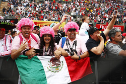 Mexican fans show their support for Sergio Perez, Force India