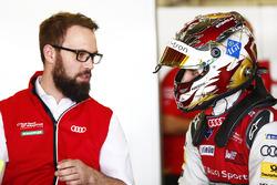 Daniel Abt, Audi Sport ABT Schaeffler, in the garage
