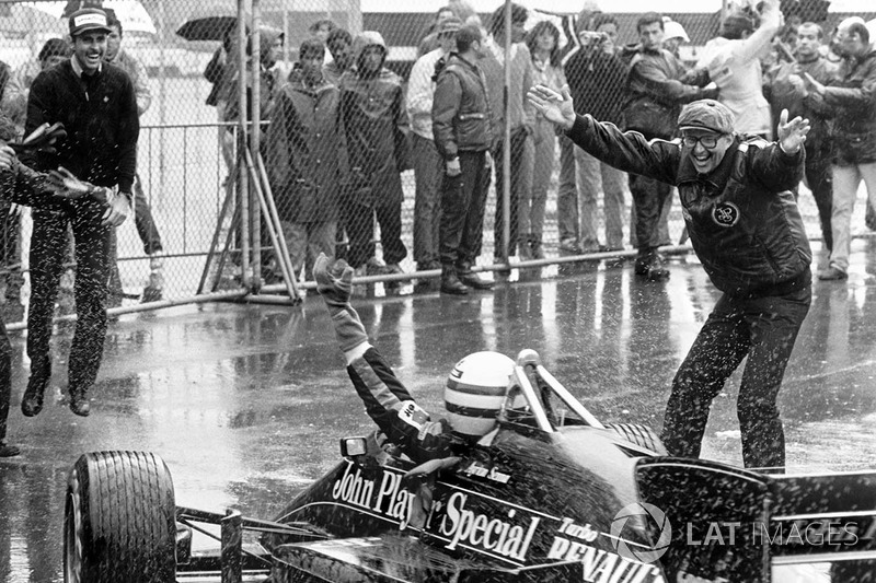 Le vainqueur Ayrton Senna, Lotus 97T