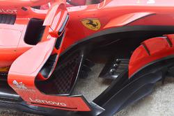 Bargeboard del Ferrari SF71H, detalle del pontón