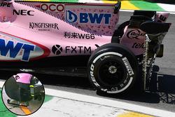 Force India rear wheel rake