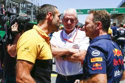 Cyril Abiteboul, directeur général Renault Sport F1 Team, Helmut Marko, Consultant, Red Bull Racing, Christian Horner, Team Principal, Red Bull Racing
