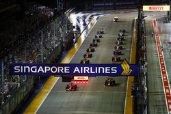 Vista del inicio de la carrera