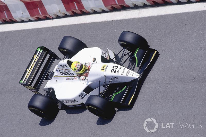 Em 1993 continuou piloto da Minardi na F1