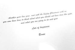 Bernie Ecclestone Christmas card