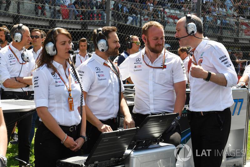 Ingenieros Mercedes-AMG F1 W09