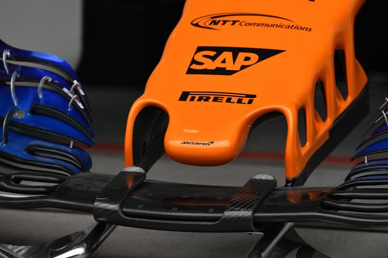 McLaren MCL33 : museau