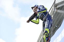 Podio: segundo lugar Valentino Rossi, Yamaha Factory Racing