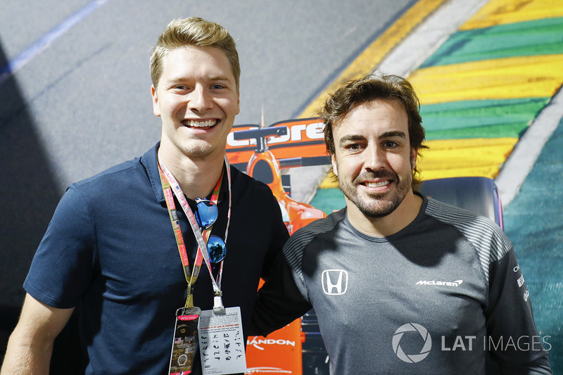 Josef Newgarden y Fernando Alonso, McLaren