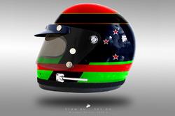 Brendon Hartley 1970's helmet concept