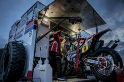 Préparatifs de l'équipe Monster Energy Honda Team