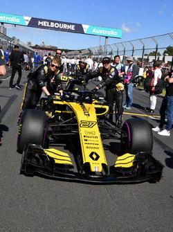 Nico Hulkenberg, Renault Sport F1 Team R.S. 18 gridde