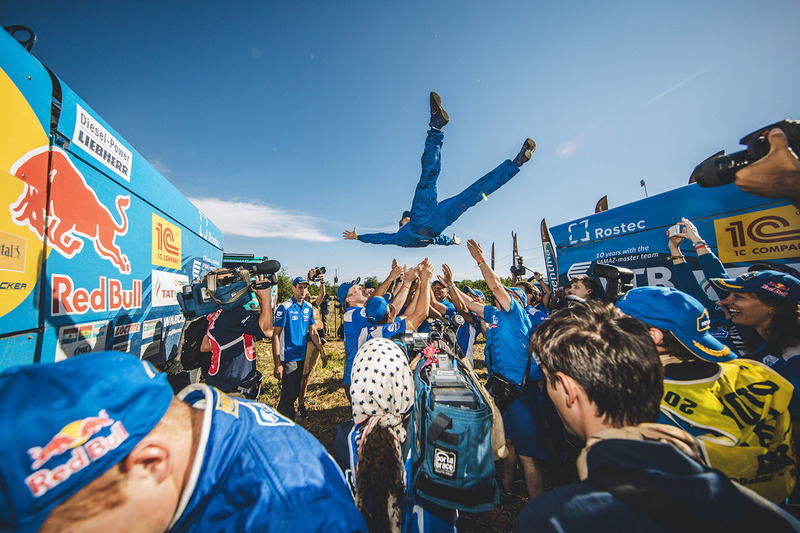 Team Kamaz Master celebrates their victory