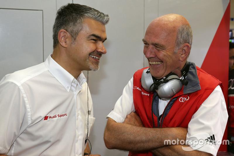 Глава DTM Audi Sport Дитер Гасс и доктор Вольфганг Ульрих, руководитель Audi Sport