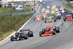 Start: Mario Andretti, Lotus 79 Ford; Niki Lauda, Brabham BT46B Alfa Romeo; Riccardo Patrese, Arrows FA1 Ford; John Watson, Brabham BT46B Alfa Romeo