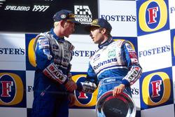 1. Jacques Villeneuve, Williams; 3. Heinz-Harald Frentzen, Williams