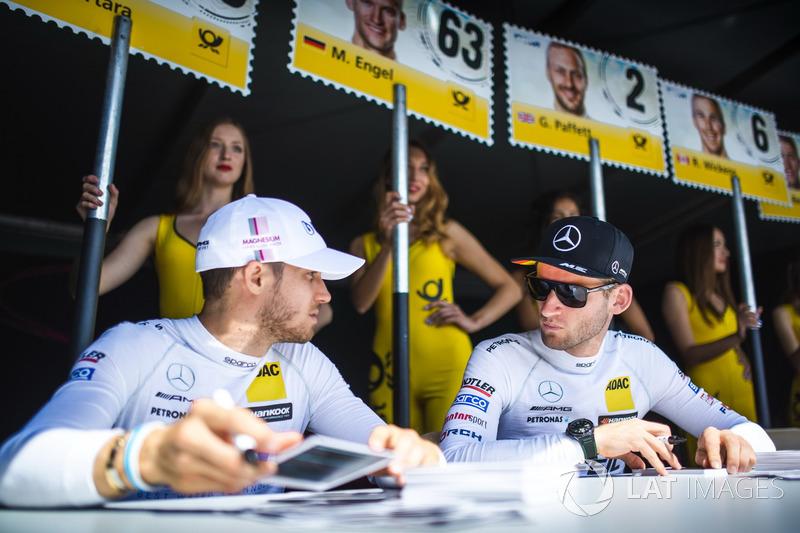 Едоардо Мортара, Mercedes-AMG Team HWA, Mercedes-AMG C63 DTM, та Маро Енгель, Mercedes-AMG Team HWA, Mercedes-AMG C63 DTM