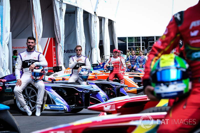 Felix Rosenqvist, Mahindra Racing, Sam Bird, DS Virgin Racing, José María López, DS Virgin Racing