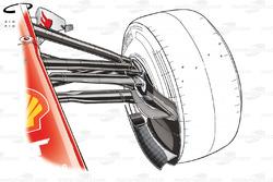 Ferrari F138 front brake duct