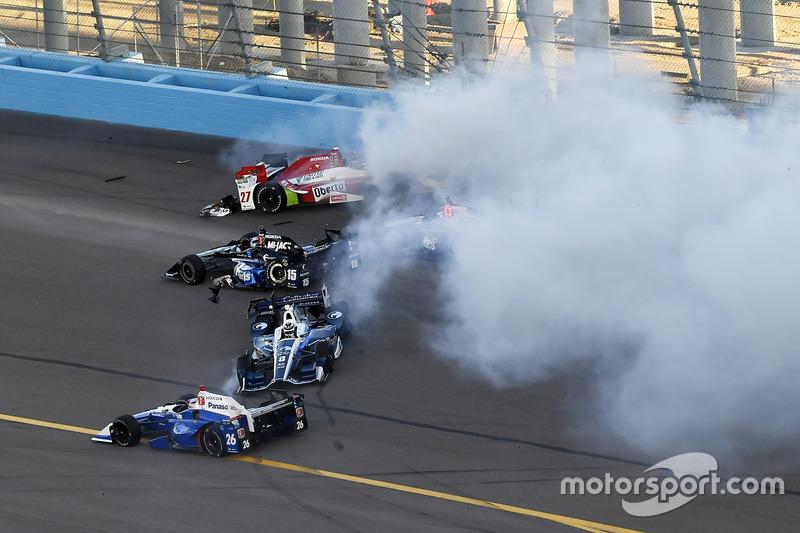 Mikhail Aleshin, Schmidt Peterson Motorsports Honda, crash