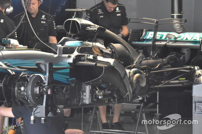 Mercedes F1 W08: Seitenansicht ohne Verkleidung