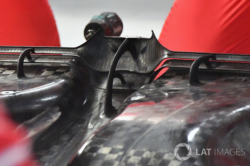 L'arrière du fond plat de la Ferrari SF70H
