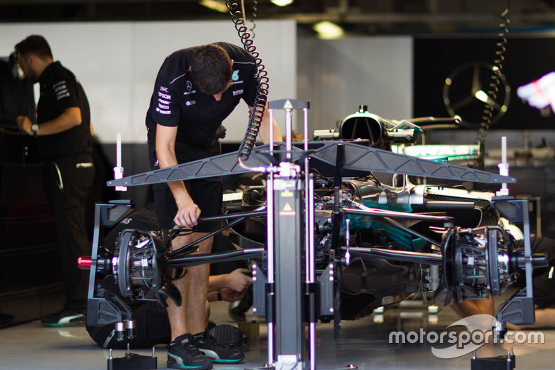 Mercedes AMG F1 team area