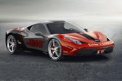Ferrari 458 con livrea Haas F1