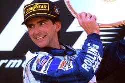 Podium: Race winner Damon Hill, Williams Renault