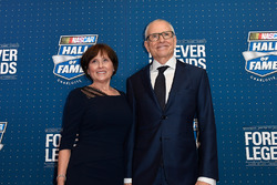 NASCAR Hall of Fame inductee Mark Martin with his wife Arlene