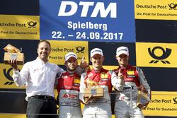 Podium: le vainqueur Mattias Ekström, Audi Sport Team Abt Sportsline, Audi A5 DTM, le deuxième Jamie Green, Audi Sport Team Rosberg, Audi RS 5 DTM, le troisième Nico Müller, Audi Sport Team Abt Sportsline, Audi RS 5 DTM, Thomas Biermaier, Team Abt Sportsli