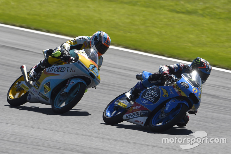 Jorge Navarro, Estrella Galicia 0,0, Honda; Gabriel Rodrigo, RBA Racing Team, KTM