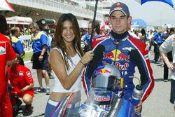 John Hopkins, Red Bull Yamaha WCM with a lovely grid girl